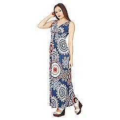 Izabel London - Multicoloured circle print maxi dress