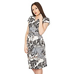 Izabel London - Multicoloured butterfly print wrap dress