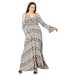 Izabel London - Multicoloured cold shoulder maxi dress