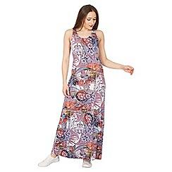 Izabel London - Multicoloured abstract print maxi dress