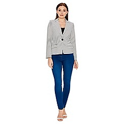 Roman Originals - Ivory stripe jersey jacket