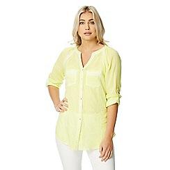 Roman Originals - Lime roll sleeve shirt