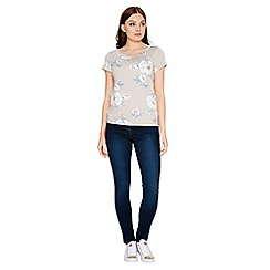 Roman Originals - Grey floral print t-shirt