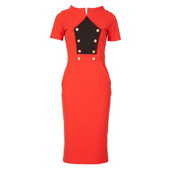 Feverfish bodycon military Feverfish bodycon dress Red dress military Red qP7pTwxE
