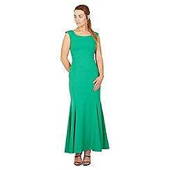 Feverfish - Green maxi  panelled celebrity dress