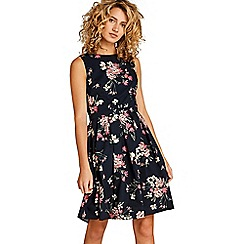 Apricot - Lilac floral bouquet print skater dress