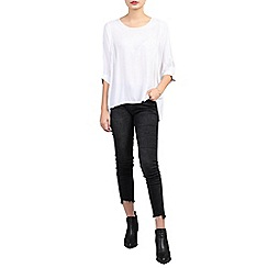 Jolie Moi - White 3/4 sleeve comfy blouse