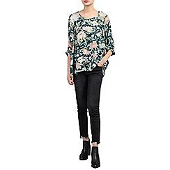Jolie Moi - Multicoloured floral print comfy blouse