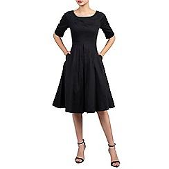 Jolie Moi - Black half sleeve retro swing dress