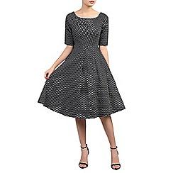 Jolie Moi - Multicoloured half sleeve retro swing dress
