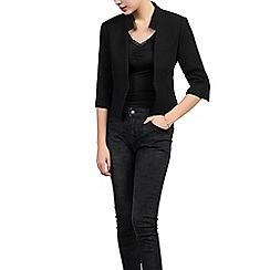 Jolie Moi - Black open front cropped jacket