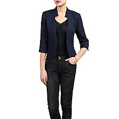 Jolie Moi - Navy open front cropped jacket