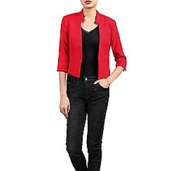 Jolie Moi - Red open front cropped jacket