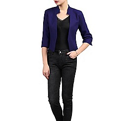 Jolie Moi - Royal open front cropped jacket
