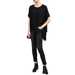 Jolie Moi - Black side ruched comfy blouse