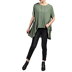 Jolie Moi - Green side ruched comfy blouse
