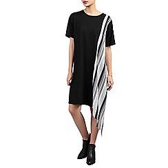 Jolie Moi - Beige asymmetric contrast tunic