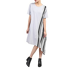 Jolie Moi - Grey asymmetric contrast tunic