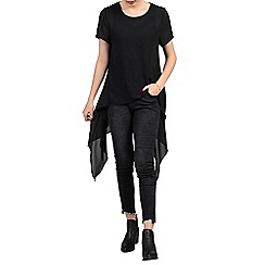 Jolie Moi - Black high low hemline tunic top