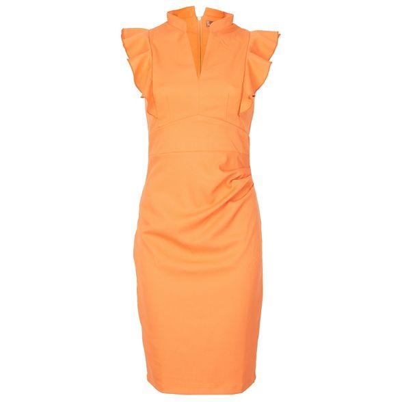 dress detail Jolie frill Orange shoulder Moi bodycon qpFwA0g78