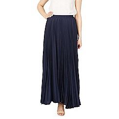 Jolie Moi - Navy pleated maxi skirt