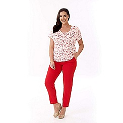 Lavitta - Red stretch patterned top