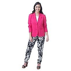 Lavitta - Dark pink linen classic blazer