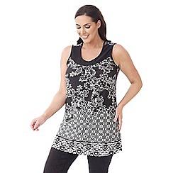 Lavitta - Black sleeveless print tunic