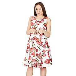 Solo - White sofia print dress