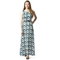 Izabel London - Green keyhole detail belted maxi dress