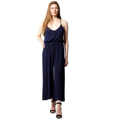 6712ac693a1 Izabel London Navy v neck flare pants jumpsuit