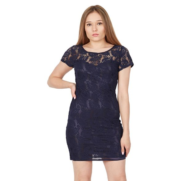 Tenki plain lace Blue dress floral 5rq5Rx7