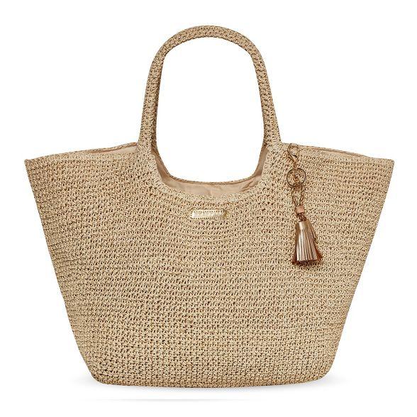 with Natural clutch raffia Seaspray bag qUtw8ft