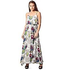 Izabel London - White floral print maxi dress