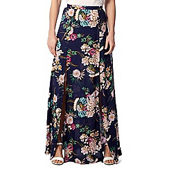Izabel London - Blue double split maxi skirt