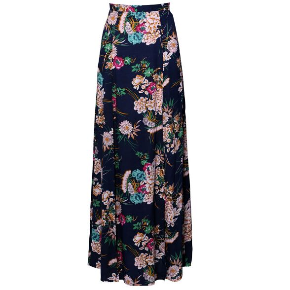 maxi Izabel skirt double Blue London split xxnIqgC
