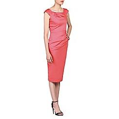 Jolie Moi - Orange scoop neckline wiggle dress