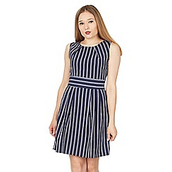 Tenki - Blue sleeveless stripy tie back dress