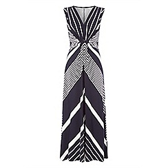 Roman Originals - Navy stripe print maxi dress