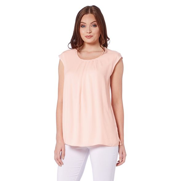 Roman pink front top Light chiffon pleat Originals 8xgq8Hwf