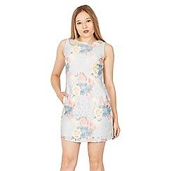 Tenki - Multicoloured sleeveless floral lace shift dress