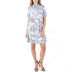 MISSTRUTH - Multicoloured floral smock shirt dress