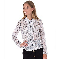MISSTRUTH - Multicoloured floral pleat front chiffon top