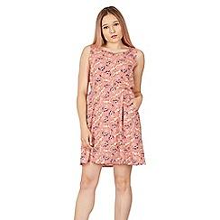 Tenki - Pink floral elastic waist dress