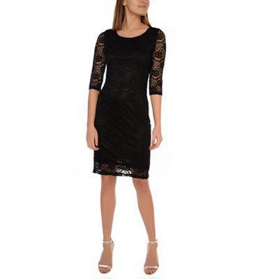 amalie-&-amber---black-lace-bodycon-dress by amalie-&-amber