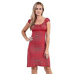 Izabel London - Red polka dot babydoll dress