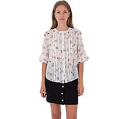 MISSTRUTH - Multicoloured floral print pleat front chiffon blouse 8a10d03c3