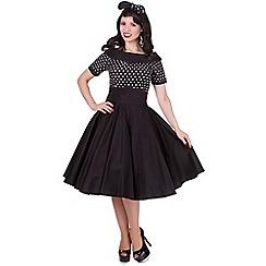 Dolly and Dotty - Black darlene polka dot full circle dress