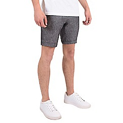 Steel & Jelly - Black linen tailored shorts