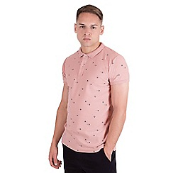 Steel & Jelly - Pink arrow print pique polo shirt